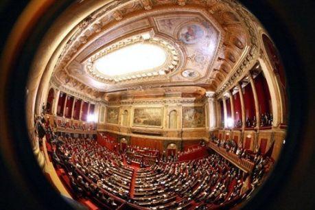 Ассамблея в Версале, левые игнорируют короля Сарко