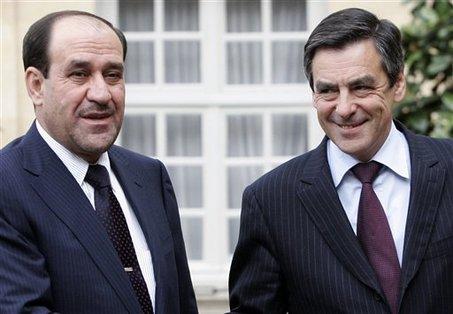 Франсуа Фийон с премьером Ирака