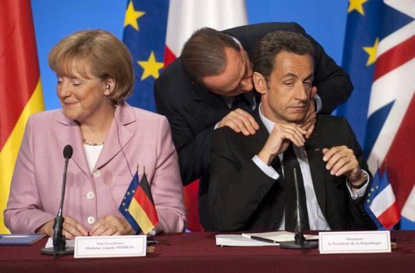 Сарко с Меркель на G8